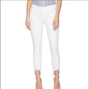 Paige Verdugo White Crop Skinny Jeans